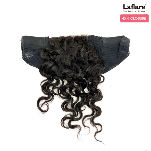 Picture of Laflare Unprocessed 100% Brazilian Virgin Remy Human Hair Lace Part Closure On Cap 4X4 DEEP