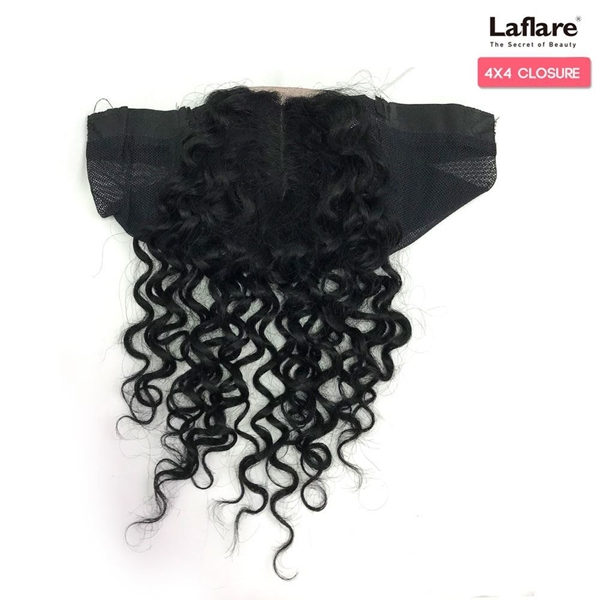 Picture of Laflare Unprocessed Brazilian Virgin Remy Human Hair Lace Part Closure On Cap 4X4 BOHEMIAN