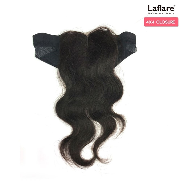 Picture of Laflare Unprocessed 100% Brazilian Virgin Remy Human Hair Lace Part Closure On Cap 4X4  BODY 12""