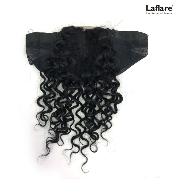 Picture of Laflare Unprocessed 100% Brazilian Virgin Remy Human Hair Lace Part Closure On Cap BOHEMIAN