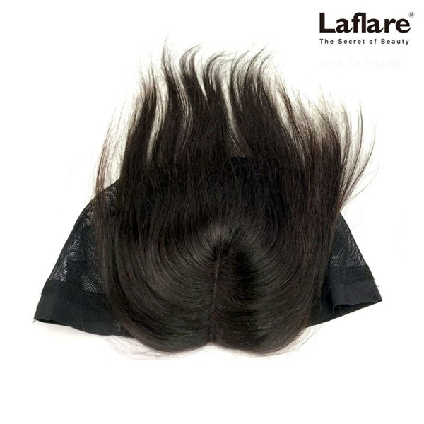 Picture of Laflare Unprocessed 100% Brazilian Virgin Remy Human Hair Lace Part Closure On Cap STRAIGHT
