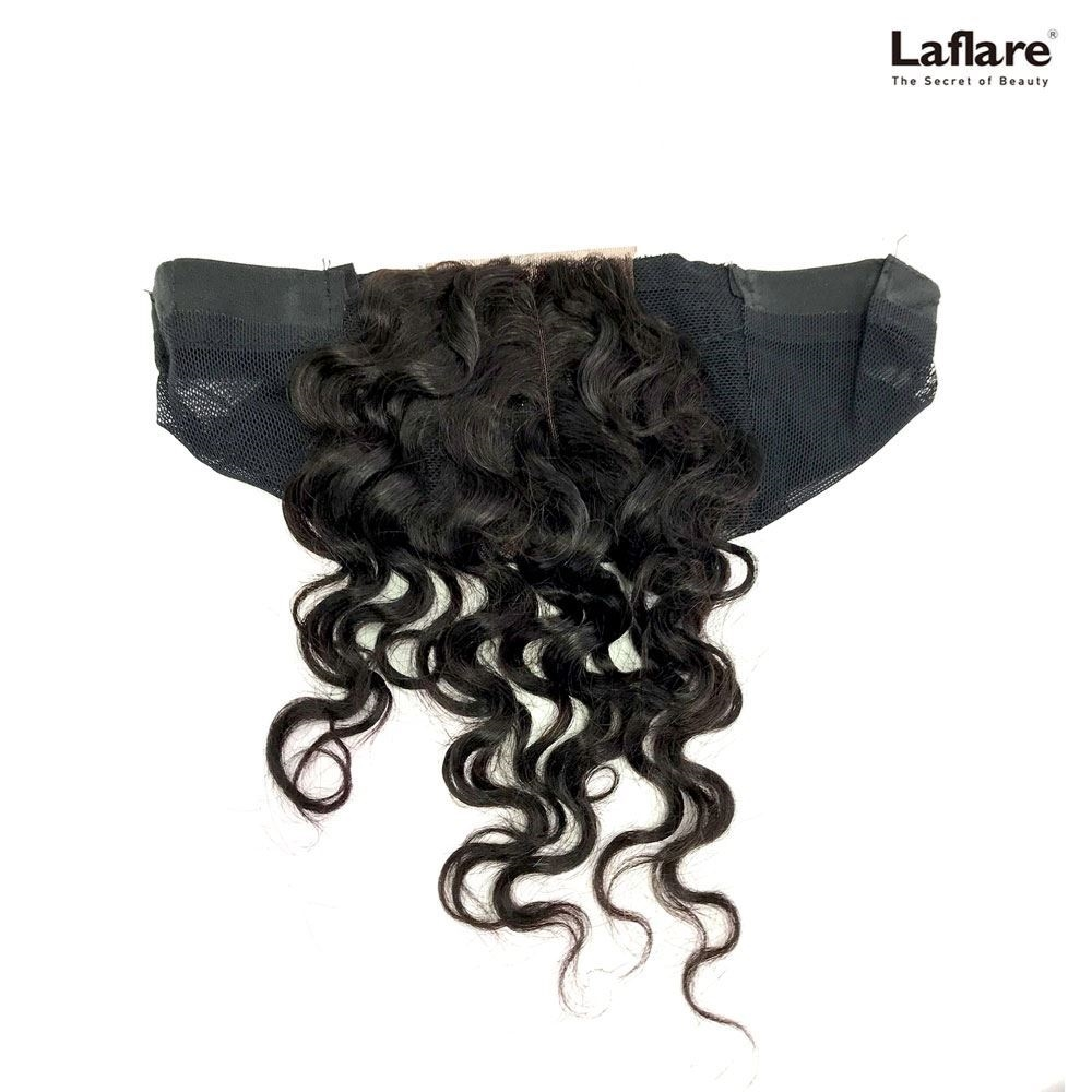 Picture of Laflare Unprocessed 100% Brazilian Virgin Remy Human Hair Lace Part Closure On Cap LOOSE DEEP