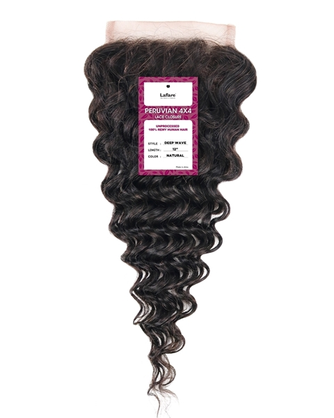 Picture of PERUVIAN 4X4 LACE CLOUSRE _ DEEP WAVE