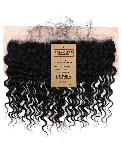 Picture of Brazilian Ear to Ear 13x4 Lace Closure _ LOOSE DEEP