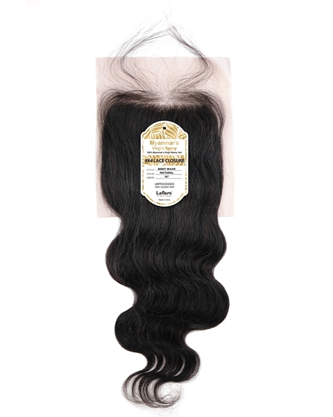 Picture of Myanmar's 4X4 Lace Closure _ BODY WAVE